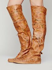 Free People El Vaquero Fiorato Tall Moccasin Boots-$368.00 Retail