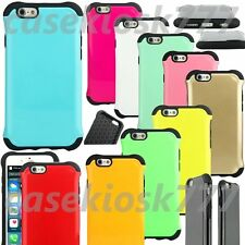 """for iphone 6 4.7 inch 4.7"""" hard flexible shockproof dual layer dot hybrid case"""