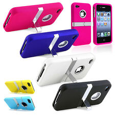 Big Sale Low For iPhone4/5 Samsungs3 s4 Deluxe Hard Back Cover Case Chrome Stand