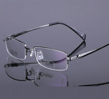 Men's 100% Pure Titanium High Quality Half Rimless Myopia Optical Glasses Frame