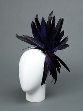 BNWT ANN DEMEULEMEESTER BLACK & BLUE HAIR COMB WITH LAYERS OF FEATHERS,1045$