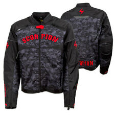 Scorpion Men's Underworld Blood Red/Black Vented Textile Motorcycle Jacket