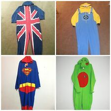 Primark Mens onesie Superman/Despicable Me/Union Jack/ Dragon in S/M/L fleece