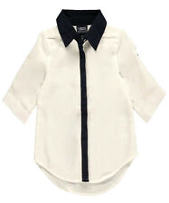 "Little Girls' ""Contrast Placket"" L/S Blouse (4 - 6X)"