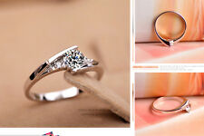 Womans Wedding Ring Crystal Engagement Simulated Diamond Ring (NEW)