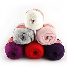 50g Soft Knitting Knitted Wool Cashmere Handcraft Yarn Baby Worsted Sweater Hot