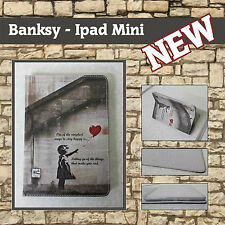 Banksy Love Quote Girl Balloon Heart Ipad Mini 3 Flip leather Book Case Cover