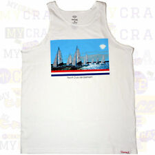 DIAMOND SUPPLY Yacht Club De Diamant Urban White Singlet Tank Top Size XL NEW
