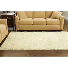 NEW Cream Beige Plush Thick SHAG RUG Living Room AREA RUG Black Grey Red Brown