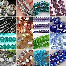 New Crystal Gemstone Loose Beads 4x6mm-100pcs ~ Free Shipping