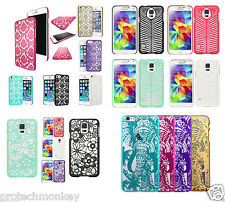 Lace Crystal Clear Design Rubber Slim Sleek TPU Cell Phone Protector Case Cover