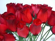 WHOLESALE CLEARANCE VALENTINES DARK RED ARTIFICIAL FLOWERS WOODEN ROSES FOR WIFE