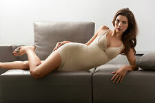 NATURANA NUDE OR BLACK STRETCH NYLON BODY SHAPER SLIMMING DRESS SLIP RRP £39.50
