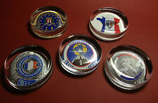 FRENCH POLICE/SECURITY SERVICE  GLASS PAPERWEIGHTS + OTHERS + FREE STICKER
