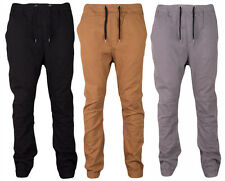 Men's Drop Crotch Twill Jogger Pants