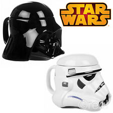 New Star Wars Stormtrooper Or Darth Vader 3D Mug With Lid Tea Coffee Official