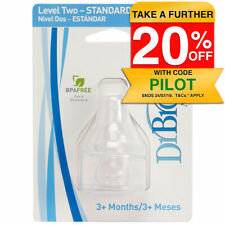 Dr Brown's Level 2 3m+ BPA-Free Baby Silicone Teats/Nipple for Standard Bottles