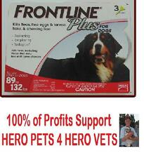 Frontline Plus For Dogs 89-132 lbs  Fast Acting Flea Protection 3 OR 6 month