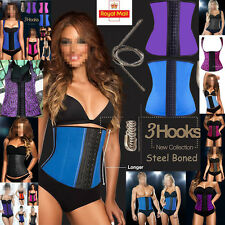 Women Sport Latex Waist Trainer Cincher Steel Boned Corset Body Shaper Shapewear