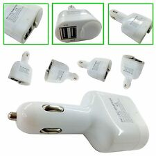 IN CAR CIGARETTE LIGHTER DUAL USB SOCKET ADAPTER FOR VARIOUS SAMSUNG  PHONES