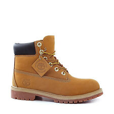 "NEW YOUTH TIMBERLAND 6"" WATERPROOF PREMIUM BOOTS  [12909]  WHEAT NUBUCK LEATHER"