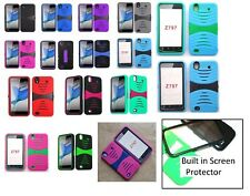 For ZTE Quartz Z797C Rugged Phone Case with BUILT in Screen Protector