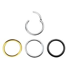 Body jewelry Hinged Segment Ring 16G & 14G cartilage,Nose lips and nipple septum