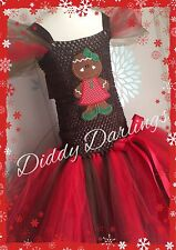 Gingerbread Lady Tutu Dress Party Fancy Dress Xmas & Play Unusual Christmas New