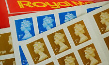 NEW Royal Mail Stamps FIRST SECOND 1st 2nd Class Large Letter Books Free Postage