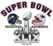 SUPER BOWL XLIX PARTY T SHIRT PATRIOTS SEAHAWKS NEW ENGLAND SEATTLE TSHIRT NFL