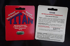 TITAN--PENIS ENLARGEMENT-MALE ENHANCEMENT-STRONG AND STIFF DAYS, NIGHTS-5 pack