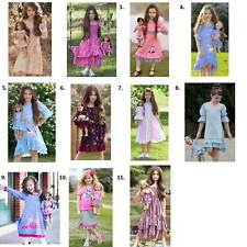 """Girl Sz 4-12 & 18"""" Doll Matching Dress Set ft American Girls and Dollie me"""