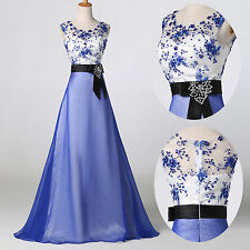 BLUE 2015 Long Chiffon Prom Homecoming Evening Gowns Party Semi Formal Dresses 8