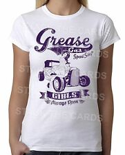 Grease Gas Girls Pin Up Womens T-Shirt -punk retro vintage tattoo rockabilly 303