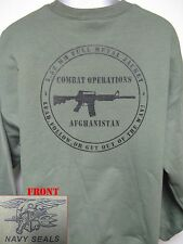 NAVY SEAL SWEATSHIRT/ AFGHANISTAN COMBAT OPS/ MILITARY/ VETERAN/   NEW