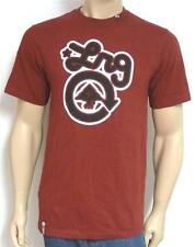 LRG Classic Logo Graphic Tee Mens Maroon Red Crew T-Shirt 100% Cotton New NWT