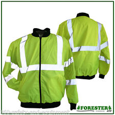 Hi-Vis Insulated Jacket Reflective Class 3 Meets ANSI/ISEA 107-2010 Sizes: M-4XL