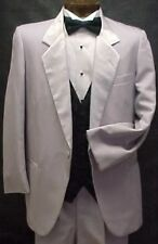 PIERRE CARDIN SILVER GRAY PINSTRIPE BOYS TUXEDO JACKET OR 4PC TUX PROM  WEDDING