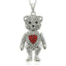 Valentines Day Gift Teddy Bear Necklace Pendant Charm For Women Girls Friend Mom