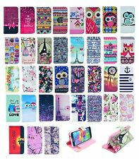 New Stand Flip Wallet PU Leather Cover Card Case For Samsung Galaxy Phones
