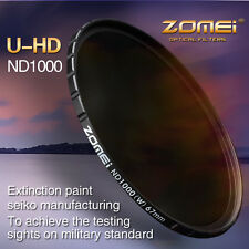 ZOMEI 52/58/67/72/77mm/82mm HD ND1000 MC Slim 10 stop/ND 3.0 Shott Glass Filter