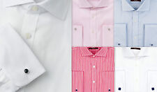 Mens Shirt LUXURY SARTORIAL Business SLIM FIT Cotton French Double Cuff