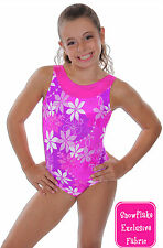 NEW!! Plumeria Pink Gymnastics Leotards by Snowflake Designs