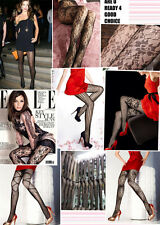 UK multi-pattern sexy black fishnet lace tights pantyhose jacquard stockings