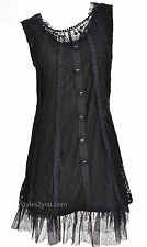 Pretty Angel Clothing Lady Patina Tunic In Black *62340BK