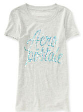 AERO Aeropostale Sequined Script logo Graphic T-Shirt Top Tee S,M,L,XL  NEW NWT!