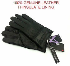 GENUINE LEATHER GLOVES THINSULATE FLEECE LINED THERMAL SOFT WINTER WARM DRIVING