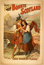 Photo Print Vintage Poster: Stage Theatre Flyer Bonnie Scotland 02