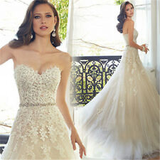 Elegant Lace Wedding Dress Sweetheart New Bridal Gown Sexy Low Back Sleeveless