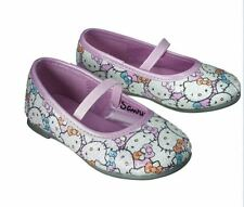 Hello Kitty Toddler Girls Ballet Flats Pink and White Sequins Elastic Strap NWT